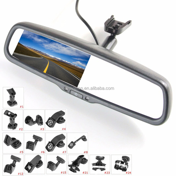 Car Rearview Mirror With Parking Camera 4.3 Inch Monitor