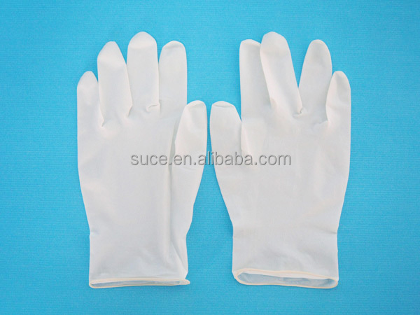 Disposable medical surgical latex examination glove