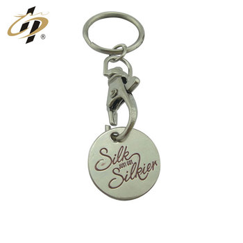 Wholesale stamping iron custom silver coin holder tokens with key chain