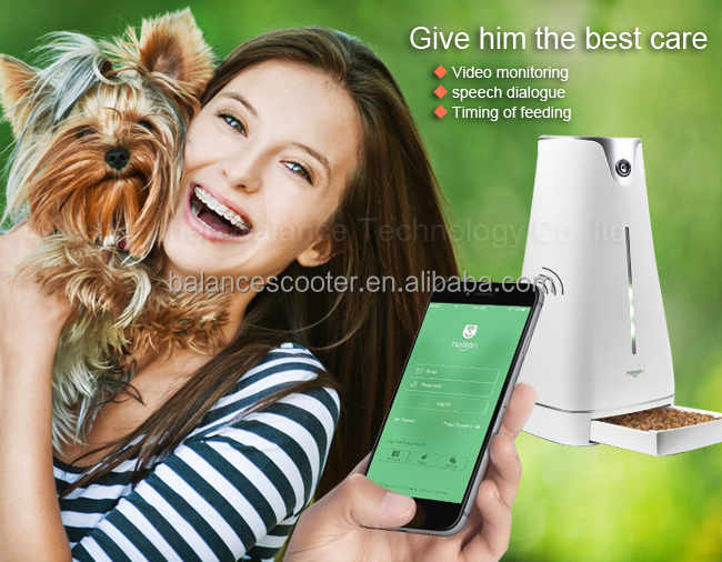 WECOULD Create Your Own Brand Wholesale Dog Feeder Remote Control APP Wifi Automatic Pet Feeder