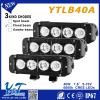 black White Changing Led Light Bar 40W Led Lighting Bar Single Row Dual Color Led Offroad Light Bar