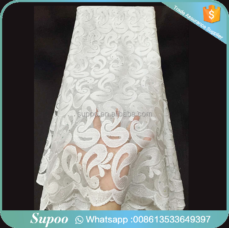 Supoo fashion silk african tulle indian george lace fabric , indian george lace fabric , cotton tulle lace