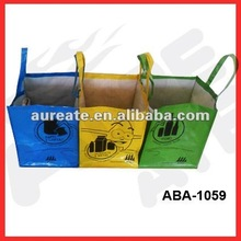 120gsm PP woven waste sorting bag-3bags/set