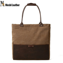 Top Quality Canvas Leather Tote Bags Shopping Bags Lady Shoulder Handbags