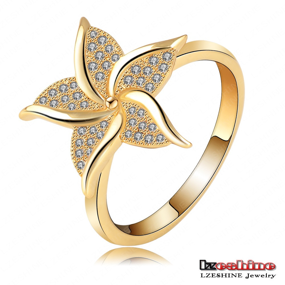 Exquisite Austrian Crystal Kite Shaped Gold Finger Rings Design for Women customized CRI0103