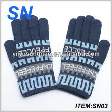 YiWu SN factory wholesale cheap warm knitted custom winter personalized winter gloves