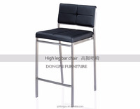 2017 Popular high back classic used commercial loft stainless steel coffee shop bar chair stools high chair y112
