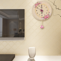 home garden Fashion 2015 round shape clock spring 12 inch antique Chinese style outdoor sweeping quiet wall clock movement BY001