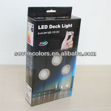 LED Deck Lights 6 Pack RGB Remote Control Red,blue,Green 15 Function 50 Colours(SC-B104C)