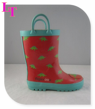 Chicken Printed Rubber Rain Boots for Kids Rubber Over Shoes