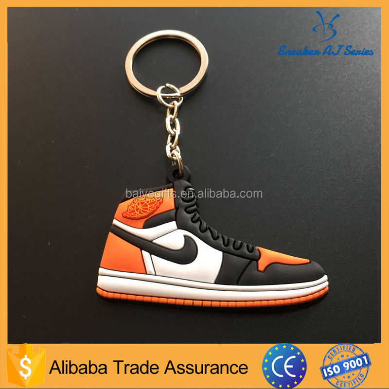 nice and fancy jordan retro 1 flat shoes key ring