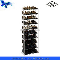 30-pair white plastic shoe rack shelf