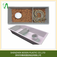 Supply large plastic tub for snake feeding by vacuum forming process