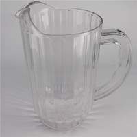 950ml plastic pitcher with ice cube acrylic plastic water pitchers china pitcher drinking glass factory