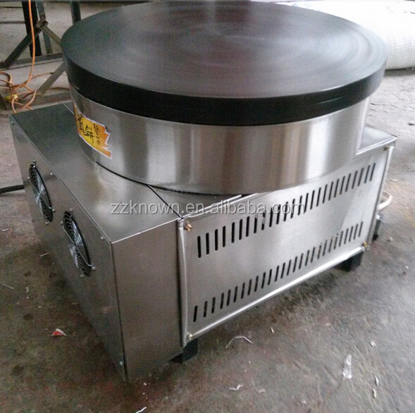 Easy operation rotating crepe maker/pancake and flapjack making machine