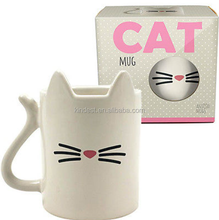White CAT Ceramic 350ml Tea Coffee Office ANIMAL MUG giftware