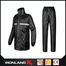 2017 wholesale custom cheap stand collar kart PVC rain suit
