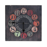 MDF Wooden Wall Clock Home Decoration French Style