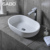 Popular Pure White Double Bathroom Basins