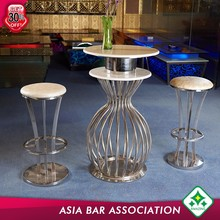 Alibaba Manufacturer pvc set round bar height table