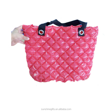 China factory OEM promotional inflatable bubble shopping bag portable hand carry bag for lady
