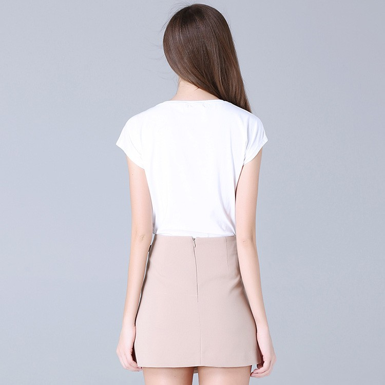 Factory price women dress suit with asymmetric skirt