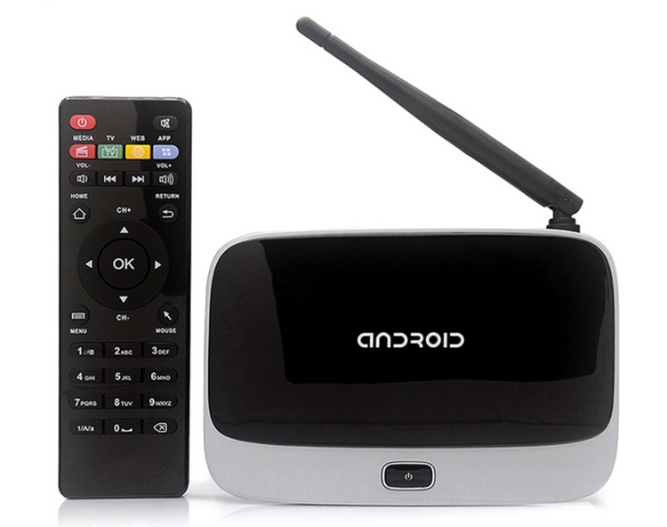 Quad Core RAM 2GB, ROM 8GB Wlan Wifi remote control android 4.4 quad core tv box cs918