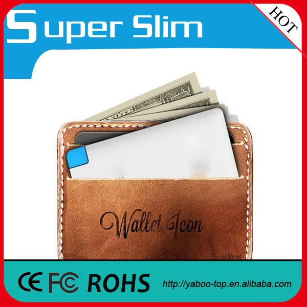 (High Performance) Credit Card Sized Power Bank Wallet Power Bank 2500mah Portable
