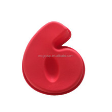 silicone number ice/cake/chocolate mould, number 6 cake mould, silicone cake mould