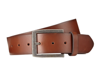 Brown leather brand belt with spin buckle Hot sale belt leather for men
