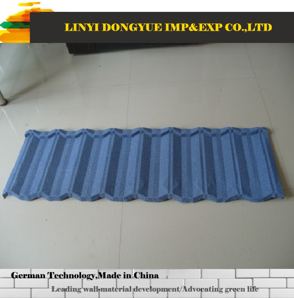 colorful basalt stone chips coated steel roofing tile for European style houses roofing