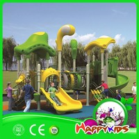 Used plastic playground swing with slide, used outdoor playground equipment