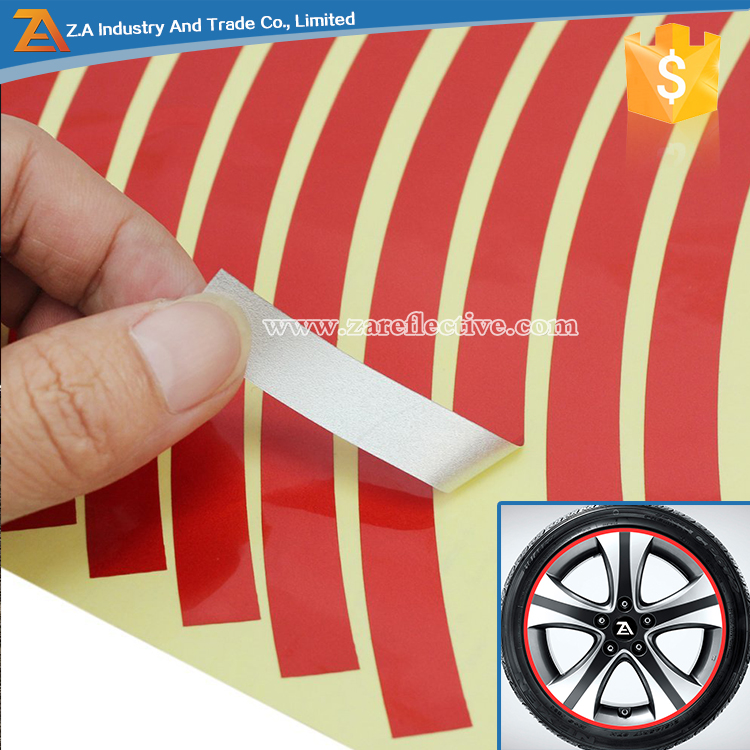 8mm Reflective Rim Tape Wheel Stripe Decal Trim Sticker For Motorcycle/Bicycle/Car