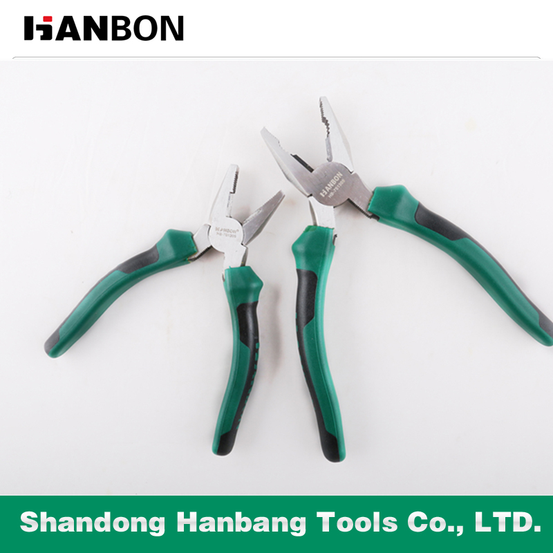 American Type Combination Pliers with Rubber Handle