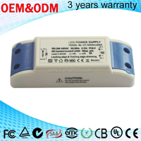 high quality dimmable 0-100% constant current SAA CE approve 650ma led driver 15w for down light