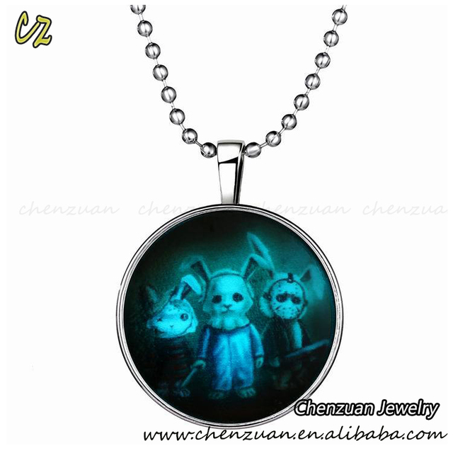 New arrival Luminous Necklaces, Halloween Jewelry necklace Style Light in the Dark necklace