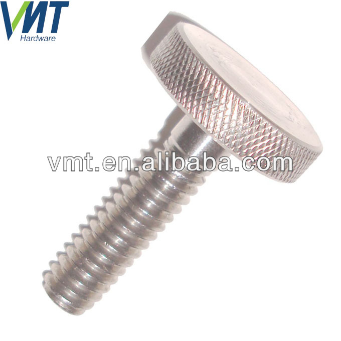 metric m4 m6 m8 knurled head stainless steel thumb knurled cap screw