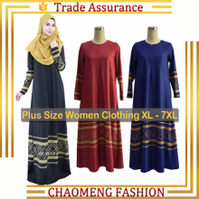 2002# Women Stylish Abaya Jilbab Islamic Muslim Women Long Sleeve Party Maxi Dress Islamic Plus Size Clothing