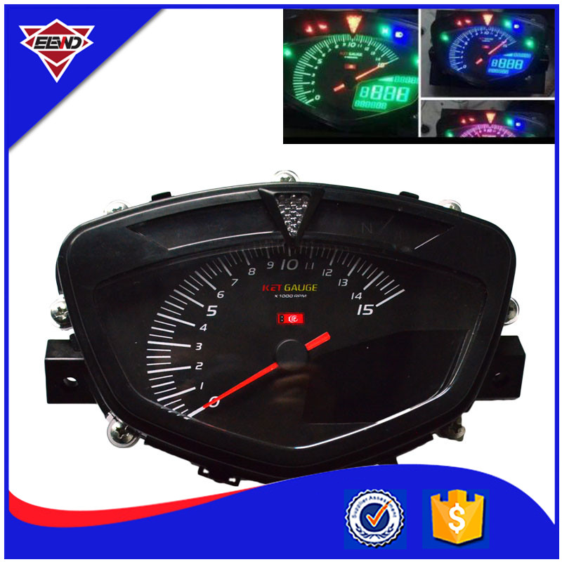 Motorcycle Speedometer Motorbike LCD digital speedometer with dual range seven color screen Motorcycle odometer Techometer