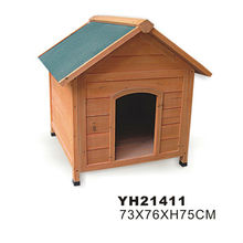 Outdoor wooden dog house dog kennel cage
