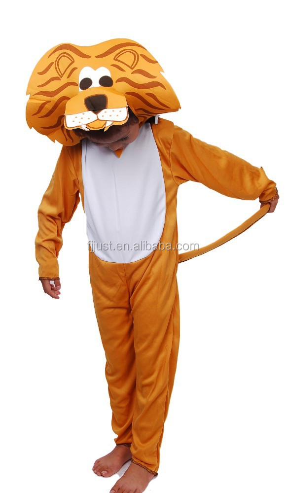 High quality plush animal lion costume for 3 year old
