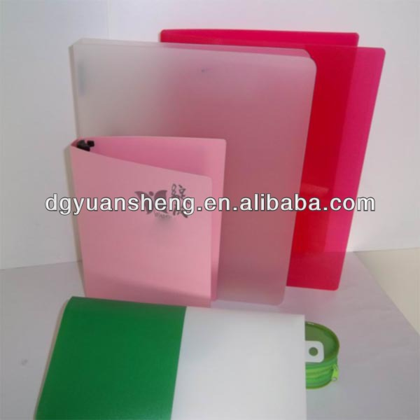 manufacturer of clear plastic decorative file folder a4 ring binder
