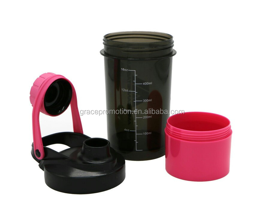 Plastic PP sports new high quality two layers water bottle
