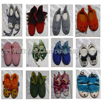 Different designs felt shoes on sale
