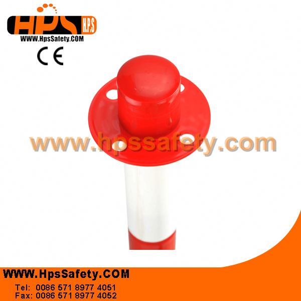 Popular Europe Style Red And White Color Plastic pneumatic bollard For Pedestrian Safety