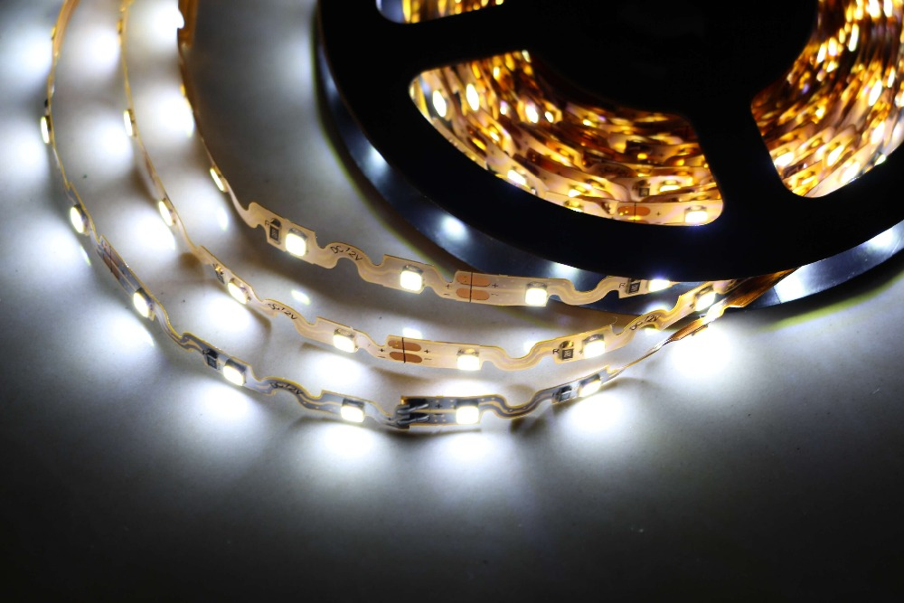 bendable S shape nonwaterproof 2835 strip led light flexible S type strip