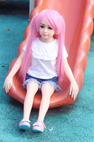 100cm young mini sex doll silicone lifelike baby girl doll with flat chest