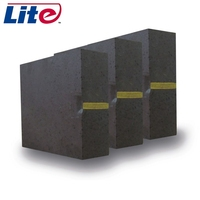 56%mgo bricks refractory magnesia fused carbon fire brick