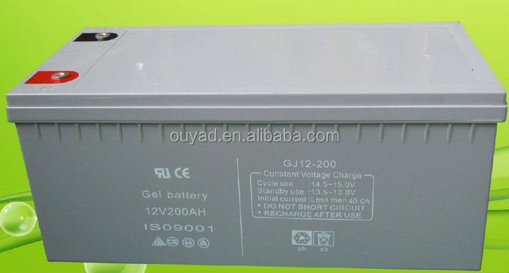 Deep cycle MF Solar/wind power storage Gel battery 12V 200AH