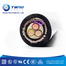 Medium voltage 3 core 6kV 10kV 20kV CU/XLPE/SWA/PVC steel wire armoured XLPE insulated power cable price